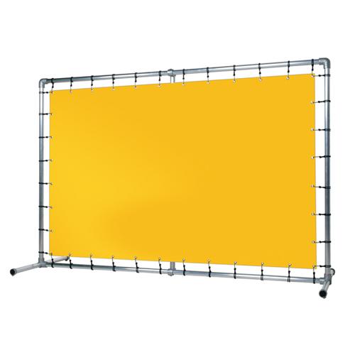 Beursframe enkel met brede voet 48,3mm doekmaat 100x200cm | spandoekman.nl