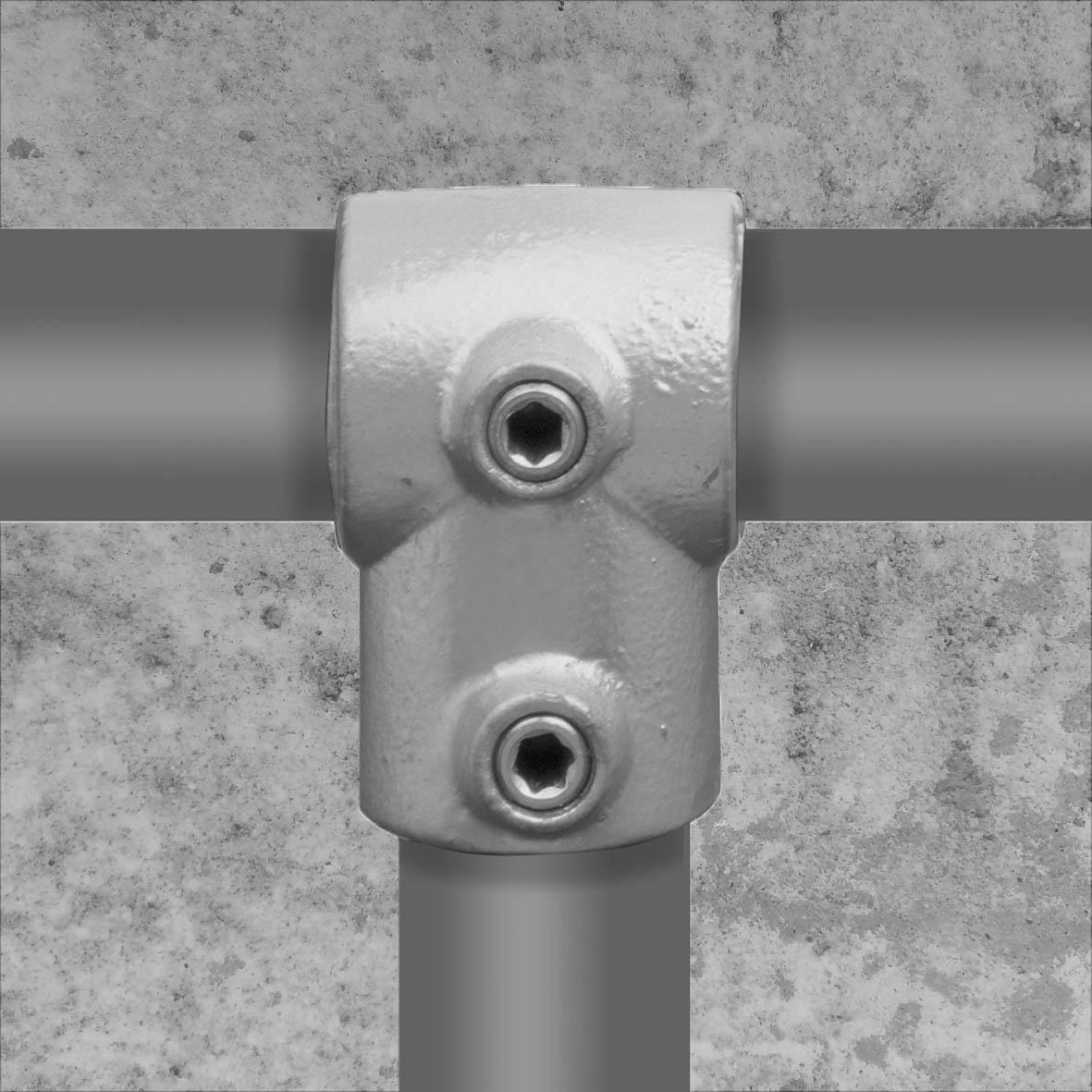 Buiskoppeling T-stuk kort type 2 - 21,3mm