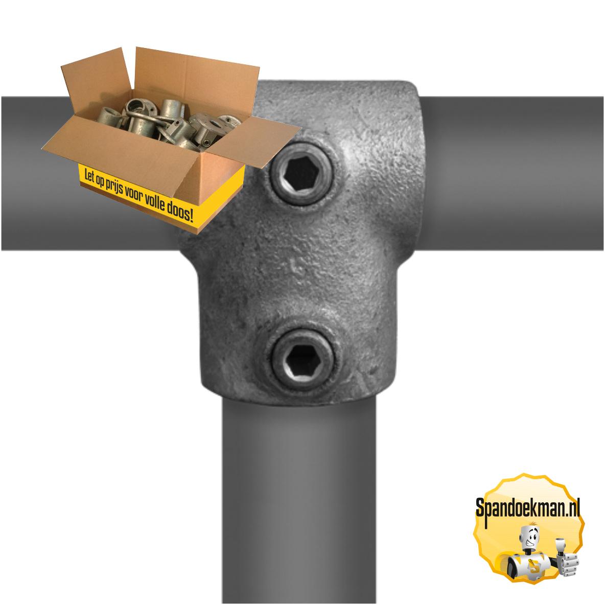 Buiskoppeling doos Kort T-stuk verloop type 2-V - H42,4mm - V33,7mm