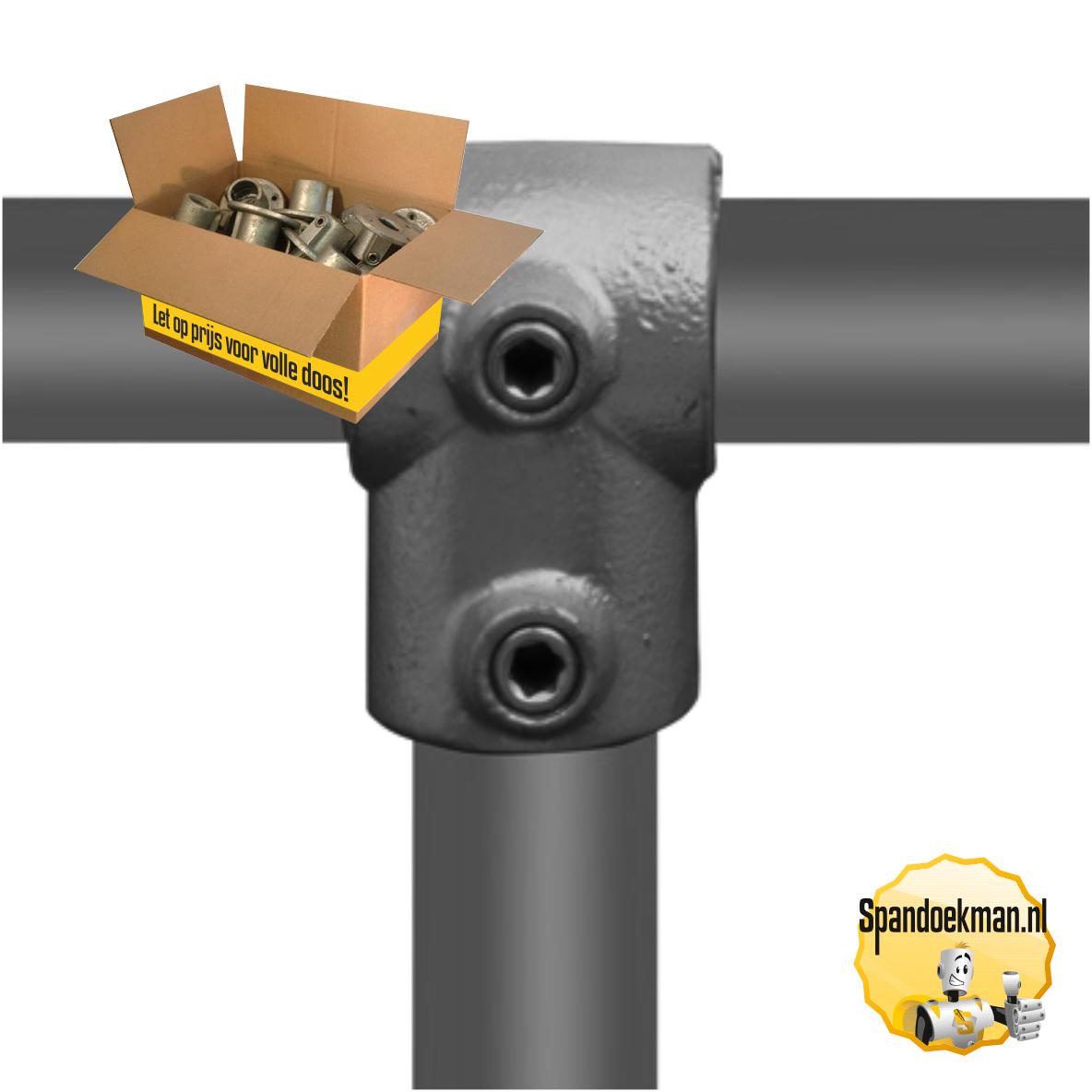Buiskoppeling T-stuk kort type 2 per doos - 21,3mm 2A (140 stuks) | spandoekman.nl