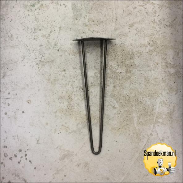 Hairpin tafelpoot 50 cm blank metaal