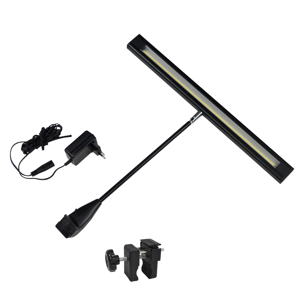 Elegante LED-spot incl. klem voor buizenframe tot 33,7mm   spandoekman.nl