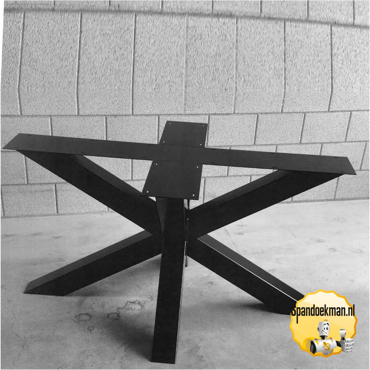 Ronde Eettafel Stalen Frame.Tafelonderstel Eettafel Kruisvoet 3d Van Metaal Set Van 2 Stuks