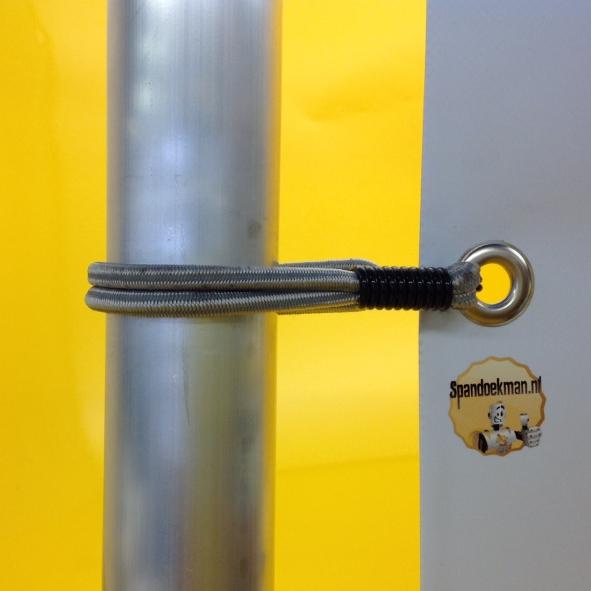S-spanner Zwanenhals Elastiek 8mm 19cm 100kg zilver