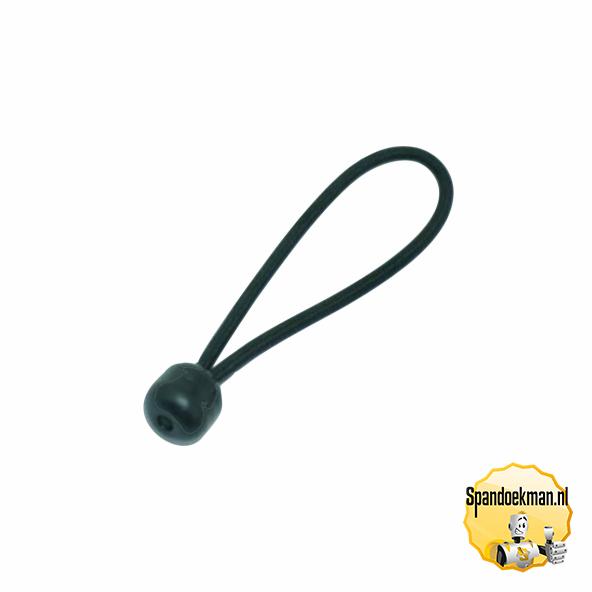 Spanner Elastiek 6mm met plastic bal 15cm 15kg zwart