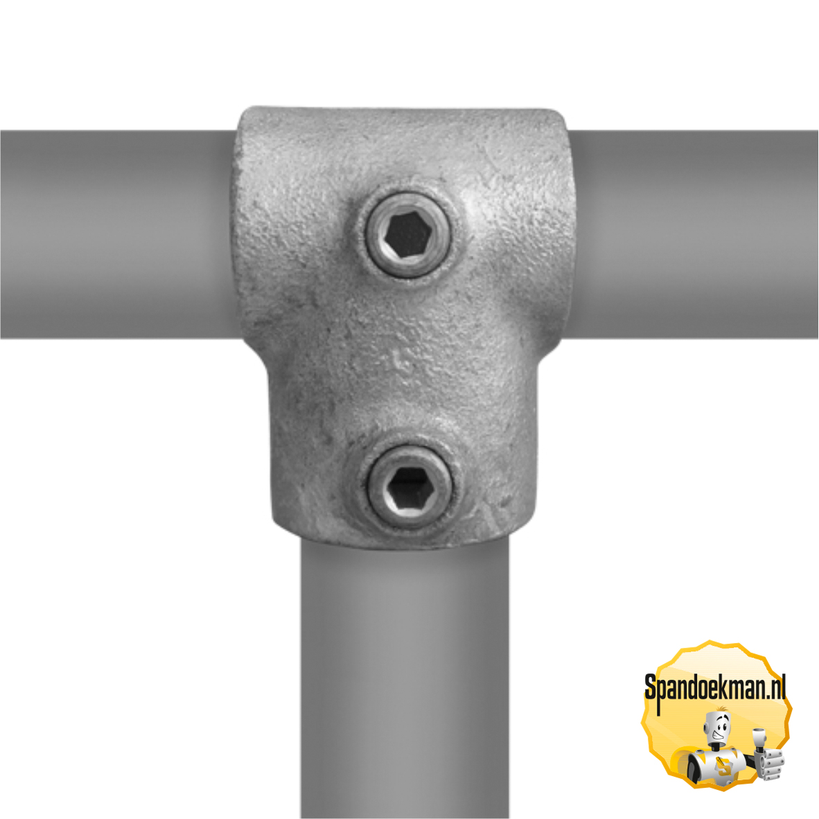 Buiskoppeling T-stuk kort verloop type 2V - 42,4 - 33,7mm