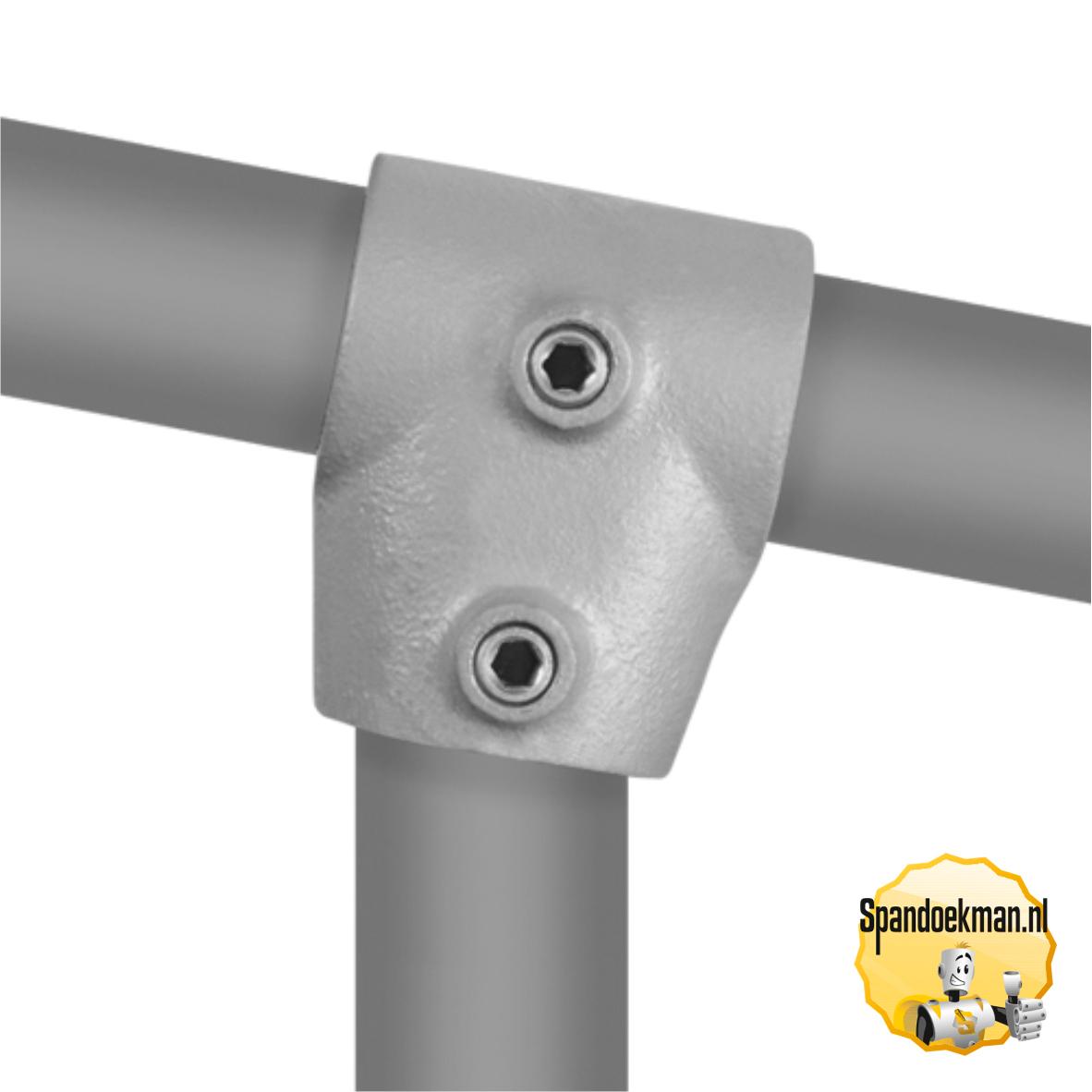 Buiskoppeling T-stuk kort variabele hoek type 2S - 33,7mm