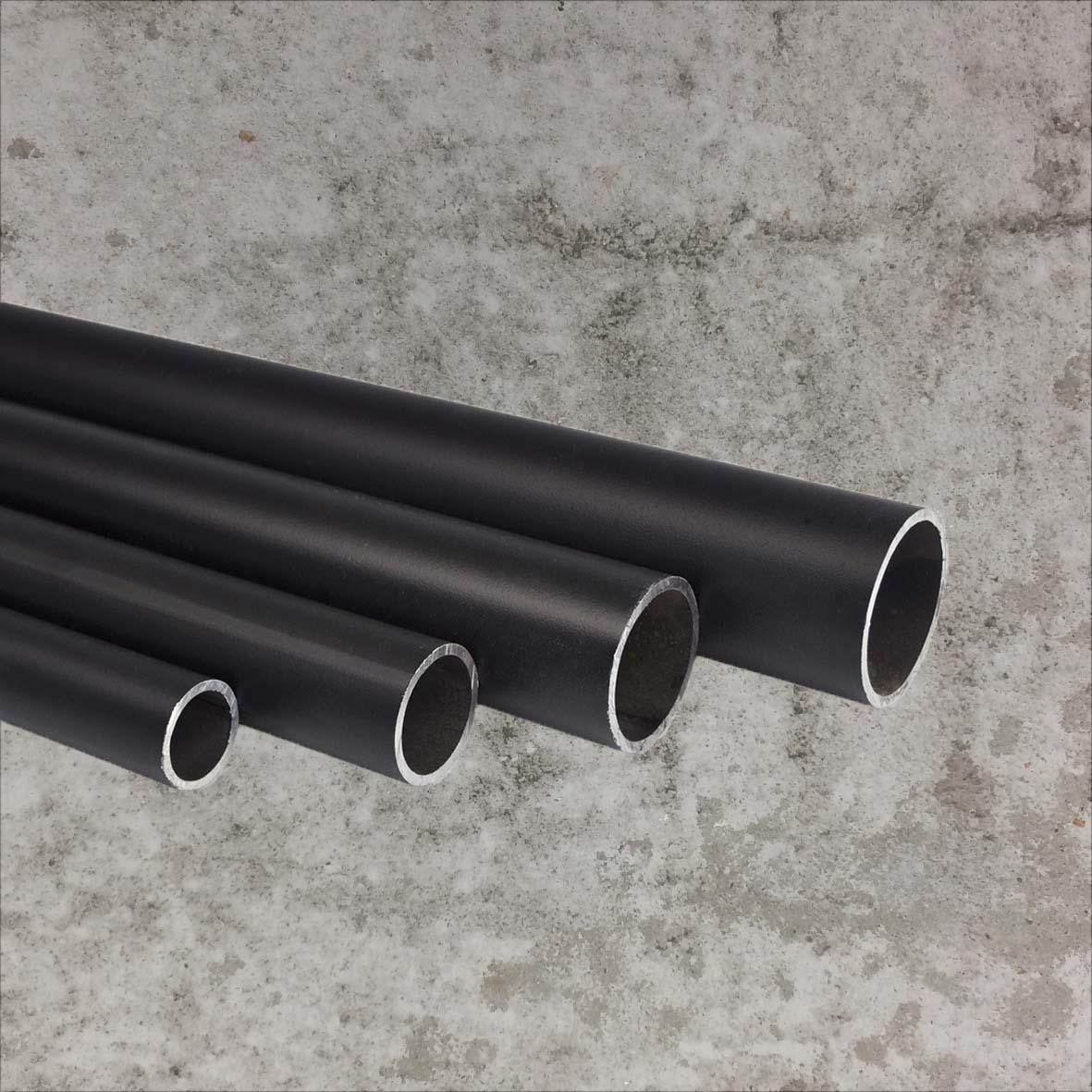 Steigerbuis zwart 21,3mm 3 meter per lengte   spandoekman.nl